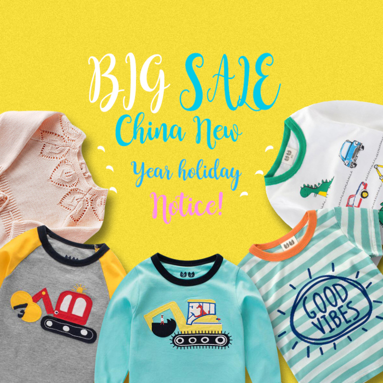 Big Sale and China New Year holiday notice