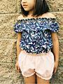 Floral /Solid Color Baby Summer Lantern Shorts Infant Girl Bread Pants