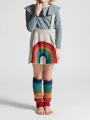 5PCS/PACK Stylish Rainbow Crochet Suspender Cotton Dress Jumper Skirt for Toddler Big Girl