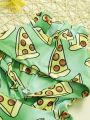 2-piece Unisex Baby Clothes Outfits Set Watermelon Ear Hoodie +Trousers