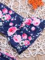 Vintage Spring Flare Sleeve Baby Toddler Girl Casual Floral Dress