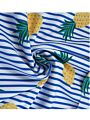2-Piece Toddler Big Girl Pineapple Print Striped Swimwear Set Top + Shorts