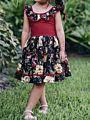 Summer Baby Toddler Girl Ruffle Sleeveless Flower Print One-piece Dress