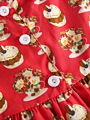 2-Piece Newborn Infant Girl Clothes Outfits Peter Pan Collar Bow Trimmed Cake Tunic+ Leggings