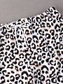 Family Matching Leopard Print Swimming Trunks for Father and Son