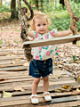 2-Piece Baby Little Girl Off Shoulder Flower Top+Ripped Short Jeans Outfits