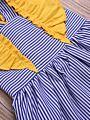 Flutter Sleeve Pinstripe Baby Toddler Girl Dress