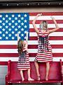 Mom and Daughter 4TH Of July Tassel Trim Sleeveless Dress