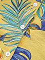 Hawaii Style Leaf Fruit Print Turn-down Collar Shirt