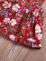 2-Piece Vintage Style Pinafore Dress Matching Headband