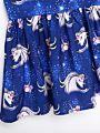 Flutter Sleeve Unicorn Dress
