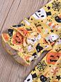 Baby Toddler Girl Halloween Theme Flutter Sleeve Dress Long-sleeved