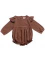 Flutter Sleeve Baby Girl Plain Bodysuit Onesie for Spring