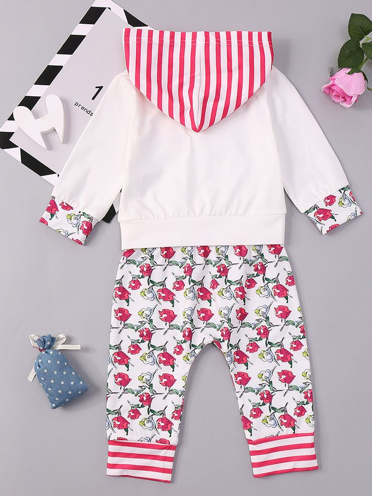 Toddler Baby Girl Floral Long Sleeve T Shirt Tops+Pants Outfit Clothes Casual Sprots