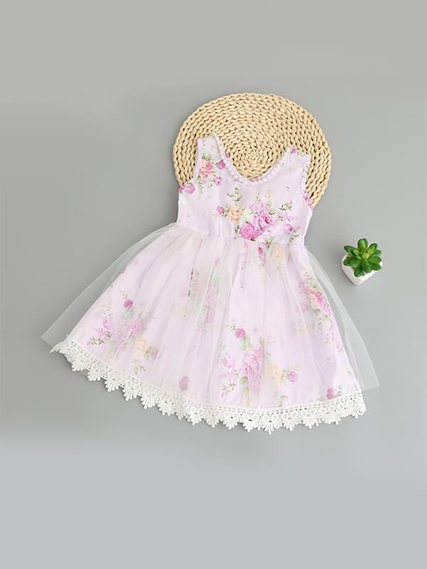 120213478 ... Kiskissing purple Sleeveless Flowers Tulle Cotton Ruffled Princess Dress  for Toddlers Girls wholesale childrens clothing Kiskissing pink ...