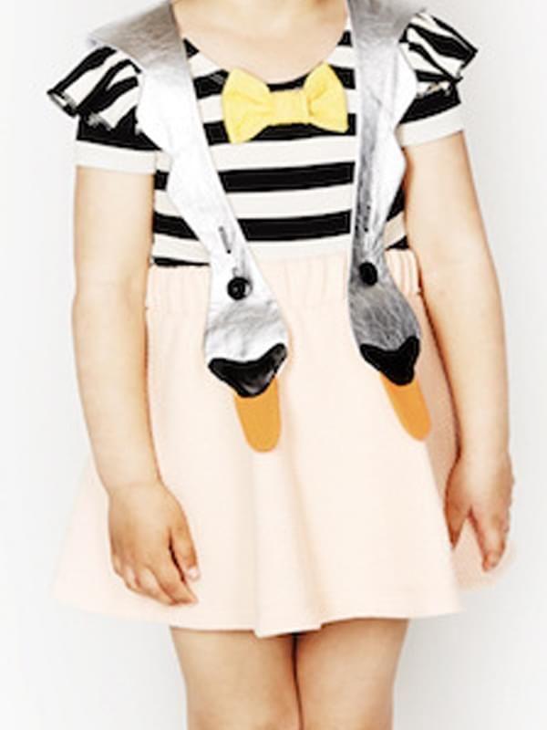38477de5a35b ... Kiskissing Swan Pattern Strap Dress Sleeveless Cotton for Baby Toddler  Girls the model show wholesale girls ...