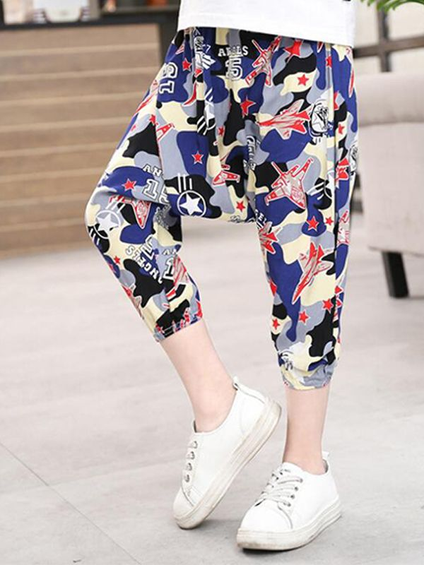 b9ed6a953 ... Kiskissing Cool Cotton Harem Pants Trousers Cartoon Print for Toddlers Boys  children's boutique clothing wholesale ...