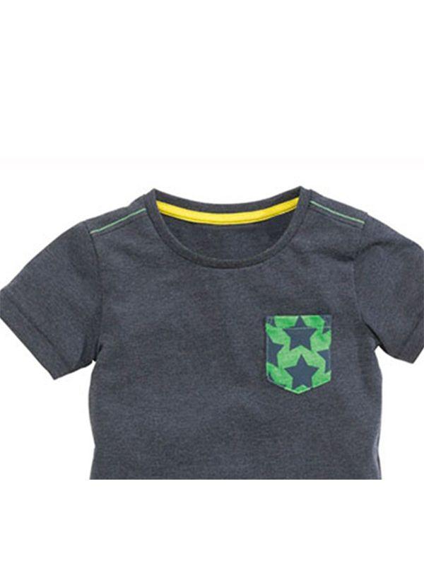 417c6933 ... Kiskissing 2-piece Boys Football Style Cotton Tee Shorts Set Whale  Print Bottom Short-