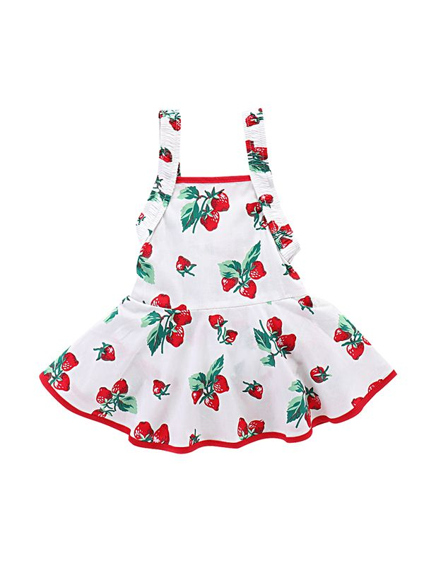 53d00ee77 Wholesale Strawberry Printed Sleeveless Strapped Baby