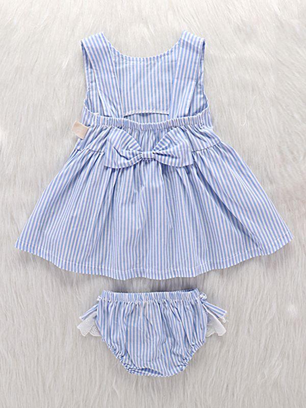 0265dde14e5a Wholesale 2-piece Stripes Dress Panties Baby Girls Set