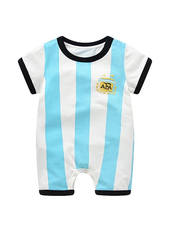 beaf99313e8 ... Argentina Messi Football Soccer Jersey Pattern Romper Bodysuit 2018  Russia FIFA World Cup for Baby Boys ...