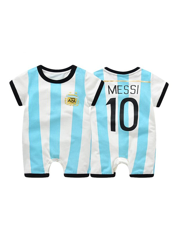 795e0cc14ca ... Argentina Messi Football Soccer Jersey Pattern Romper Bodysuit 2018  Russia FIFA World Cup for Baby Boys ...