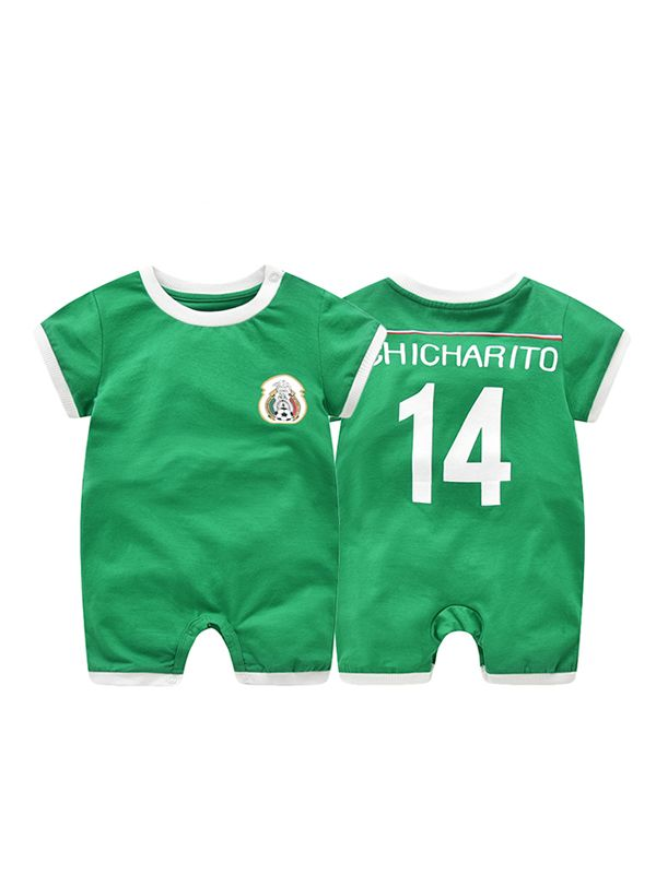 bdeffb7ad ... Mexico Chicharito Football Soccer Jersey Pattern Romper Bodysuit 2018  Russia FIFA World Cup for Baby Boys ...