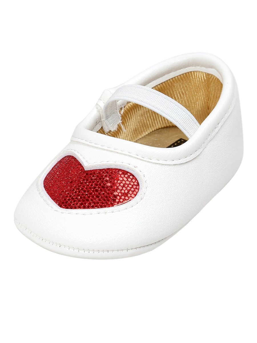 9d1decf9a016 ... Heart Pattern Sequins Slip-on Pre-walking Shoes Soft-sole Antiskid Crib  Shoes ...