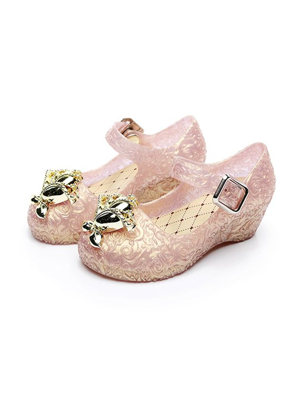 Princess Crystal-like Shoes Wedge Heel Party Wear for Babies Toddlers Girls  ...