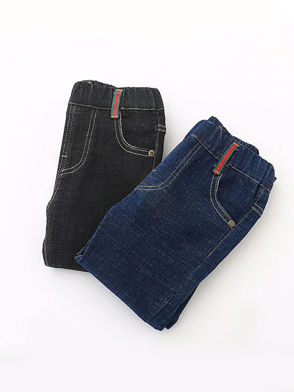 59ab11026b ... Blue/Black Denim Jeans Pants Trousers for Toddlers Boys ...