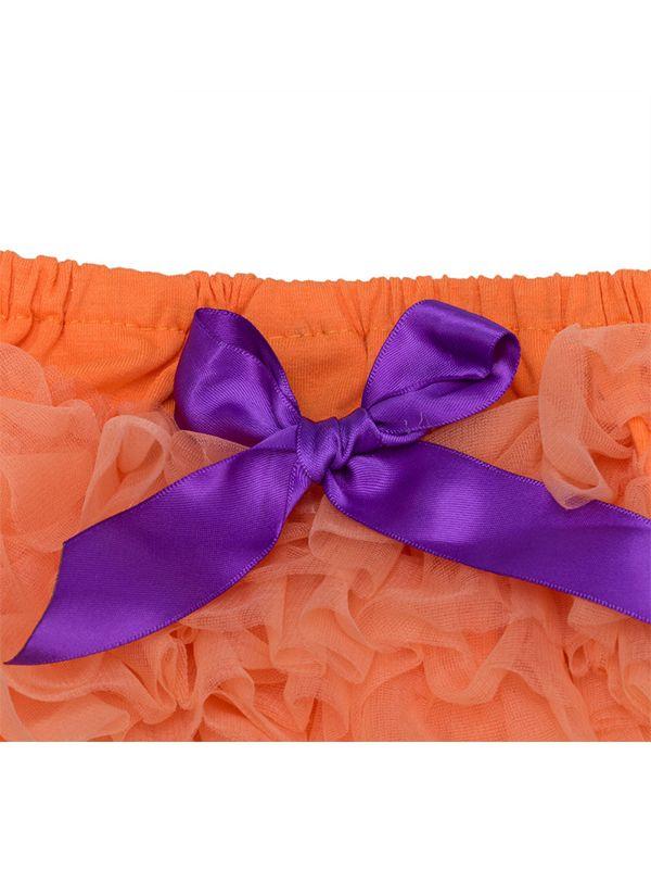 ... Halloween 3-piece Pumpkin Romper Tutu-Shorts Headband Shoes Set Short Sleeve Bodysuit for ...