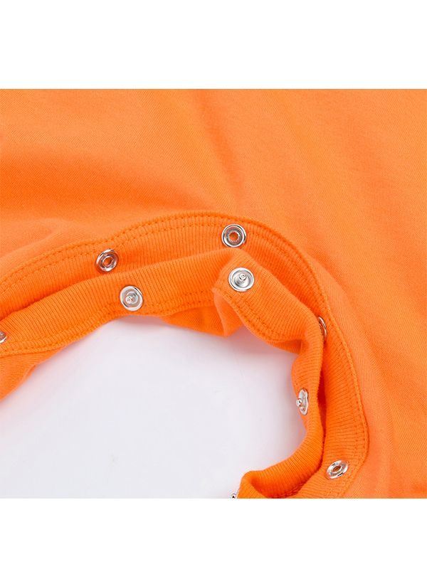 29751be89bc ... Halloween Pumpkin Romper Long-sleeve Jumpsuit Holiday Wear for Baby  Boys Girls ...
