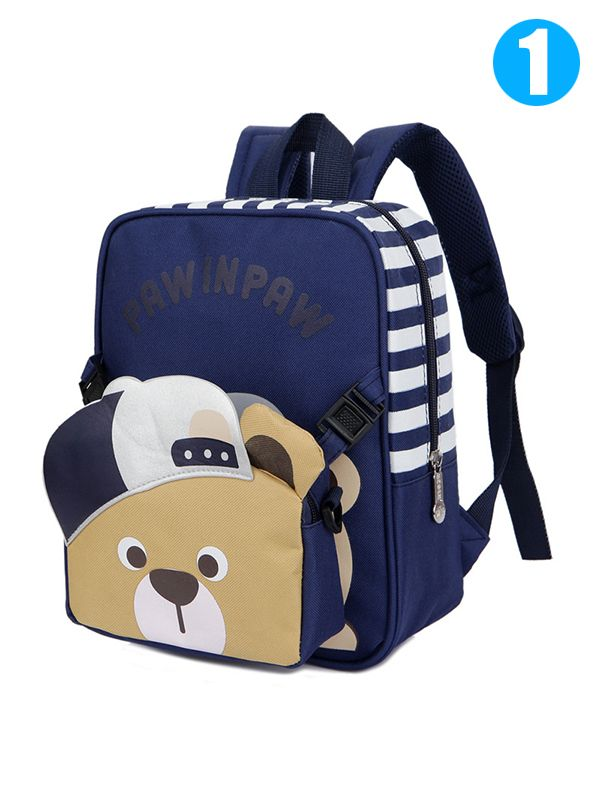 4f2bc86b6f 2-piece Cute Bear Satchel Backpack Set Portable Schoolbag Strapped Back to School  Kindergarten for ...