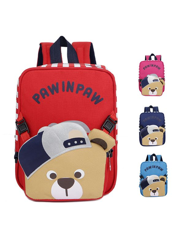 7adafd6153 ... 2-piece Cute Bear Satchel Backpack Set Portable Schoolbag Strapped Back  to School Kindergarten for ...