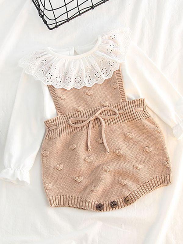 5b76d0b4e54 ... Bubble Balls Sleeveless Knitted Baby Suspender Romper Bodysuit ...