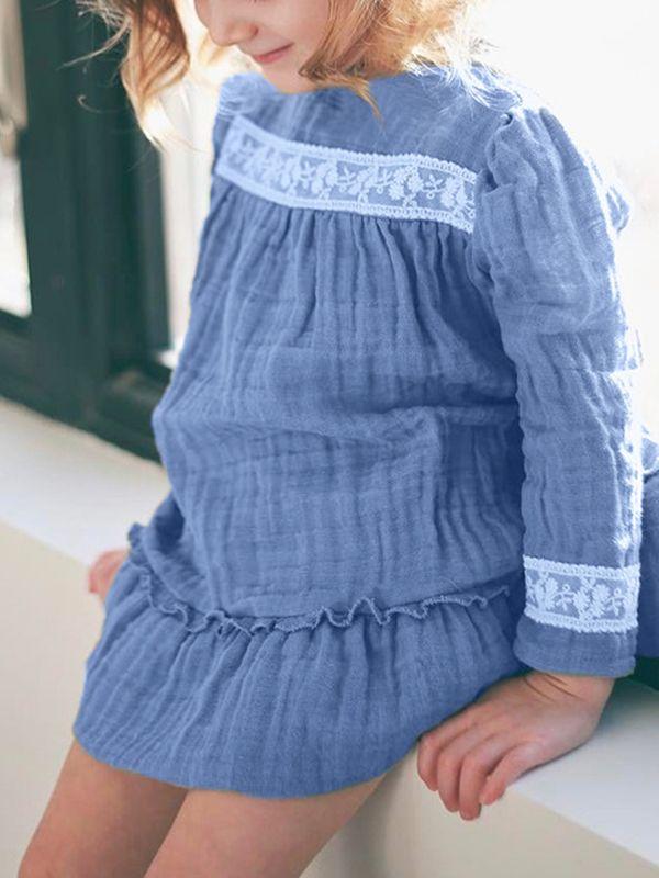 74d2b4c8cb22 Wholesale Stylish Blue Ruffled Baby Toddler Girls Dress
