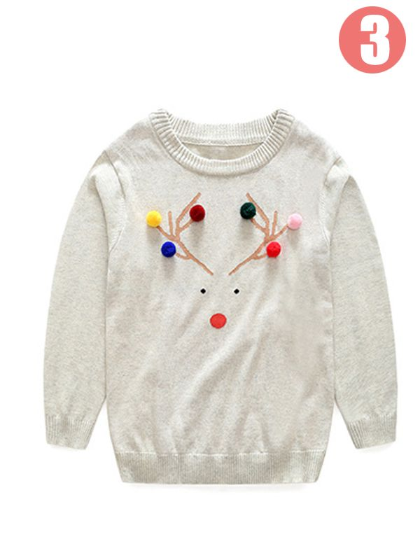 ... MOM and ME Dear/Leaf Cotton Romper for Baby Pullover Sweater Long sleeve for Moms ...