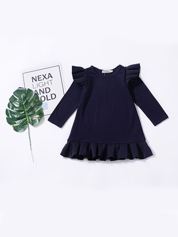 a4403c2892 Wholesale Royal Blue Ruffled Long Sleeves Dress for