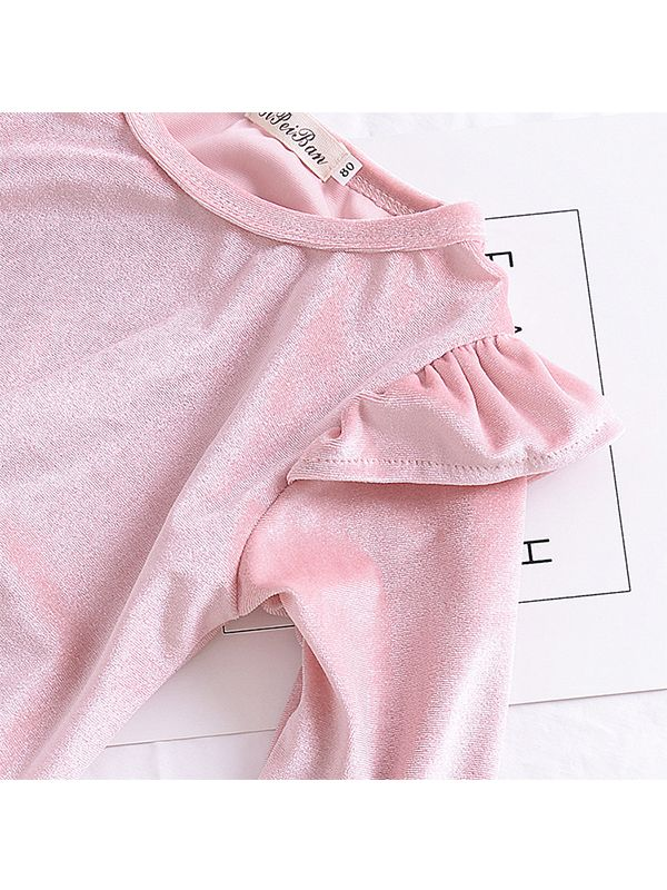 96ac874d6ecc Wholesale Pretty Pink Cap Long Sleeve Dress for Toddler