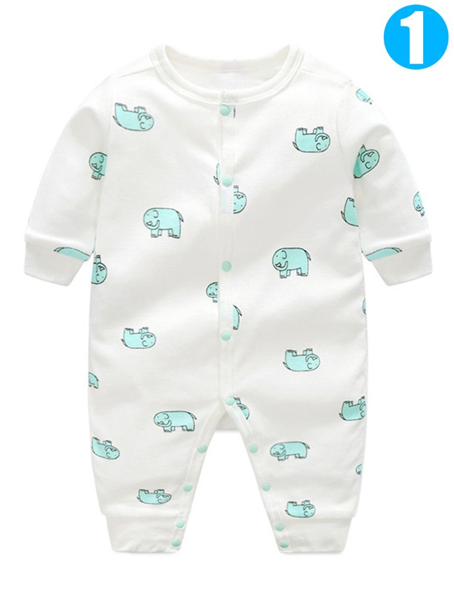 Toddler Baby Boys Bodysuit Short-Sleeve Onesie Tree Print Outfit Winter Pajamas