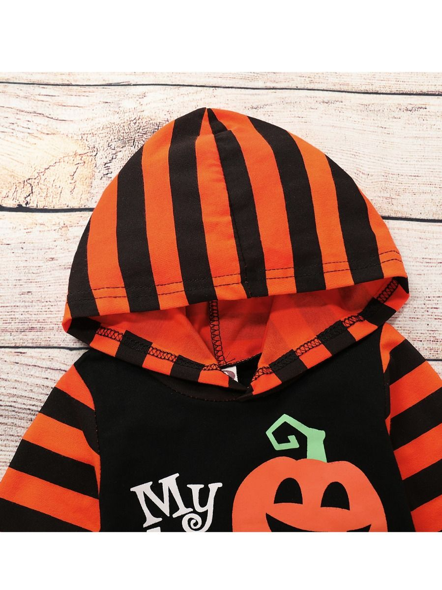 670d4e3320d2 Wholesale Halloween Infant Hooded Pumpkin Bat Print