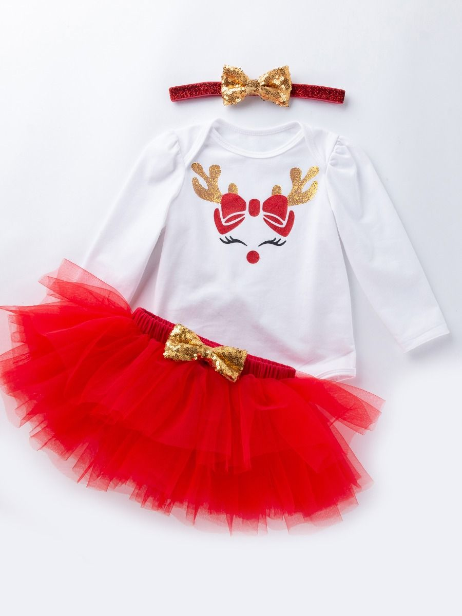 Baby Girls Romper Bodysuit 1st Valentine/'s Day Sequins Shiny Heart Outfits Set