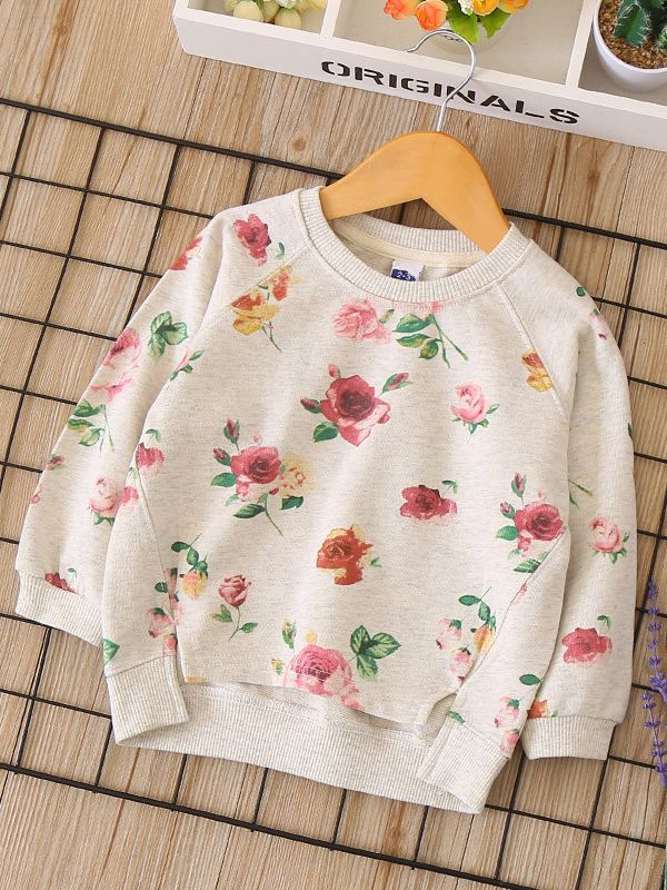 Childrens Floral Skull Sweater Boys Girls Pullover Sweaters