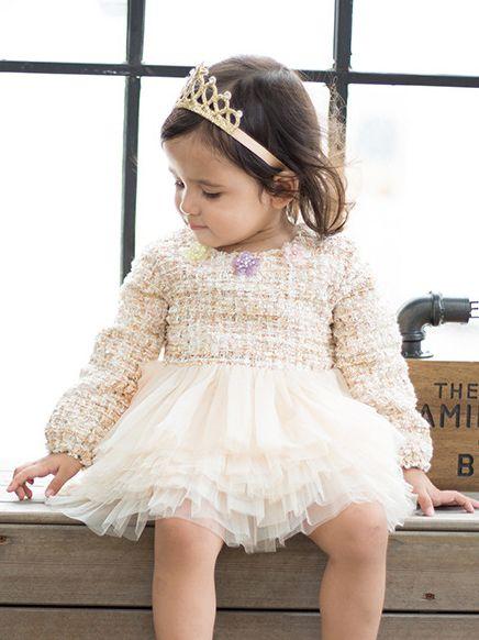 3798f818101 ... Kiskissing Baby Toddler Girls Party Cupcake Princess Tulle Dress Kids Girl  Formal Dress Long Sleeve the ...