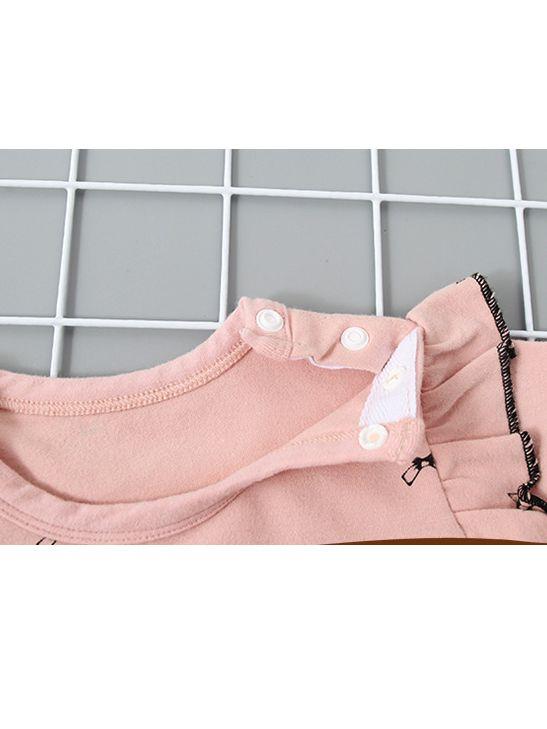 5353ebc86e41 Wholesale Cute Winter Flutter Sleeve Bow Print Baby