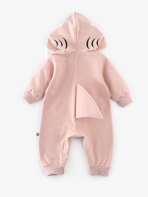 8f90ccb73b39 ... Adorable Dinosaur Pattern Hooded Romper Unisex Baby Girl Boy Zipper  Bodysuit with Pocket for Autumn ...
