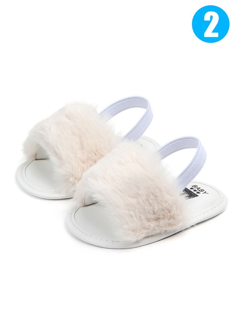 4c75a1eb8 ... Trendy Soft Sole Baby Toddler Girl Fluffy Crib Sandals Shoes ...