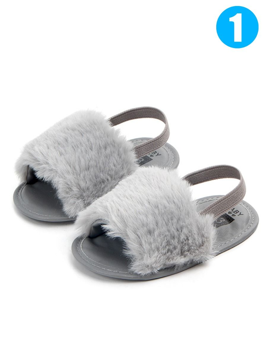936a160b9 Trendy Soft Sole Baby Toddler Girl Fluffy Crib Sandals Shoes ...