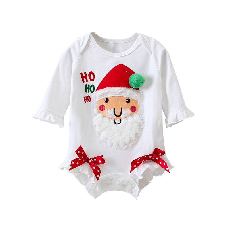 Baby Boys Girls Christmas Jumpsuit Toddler Santa Claus Patterns/  Romper One Piece Pajamas Outfits/ Set