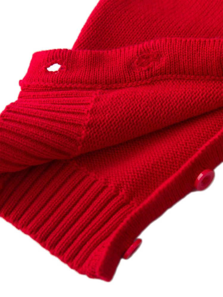 a7dc30c00ca ... 2PCS Baby Boys Girls Christmas Costumes Outfit Set Knitted Bear Infant  Romper and Red Hat ...
